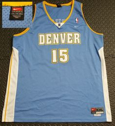 33636cde5d0 Vintage Basketball Jersey sz 2XL Carmelo Anthony Denver Nuggets NBA Swingman
