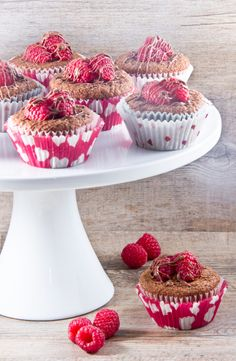 """Sweet Surprise"" Chocolate-Covered-Raspberry Stuffed Cupcakes"