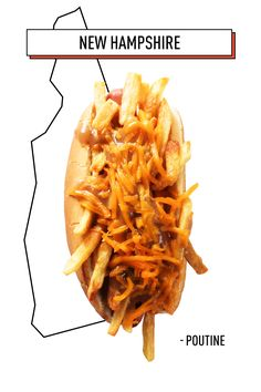 Poutine is a loaded food and those who love it have strong opinions about it. This New Hampshire dog, inspired by the states French-Canadian history, comes together with fries, brown gravy, and loads of your favorite cheese.   - Delish.com