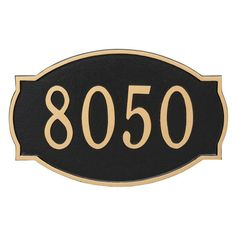 Montague Metal Cambridge Standard Address Sign Wall Plaque - PCS-0054S1-W-CS