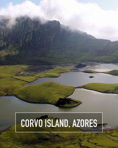 The smallest island in the Azores: Corvo Island