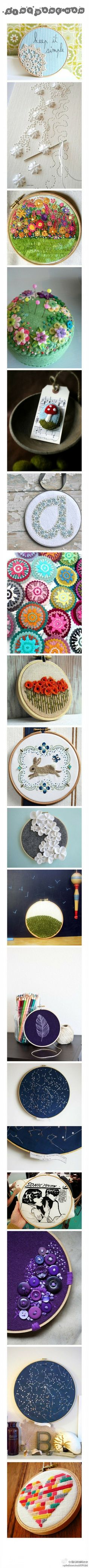 Small embroideries.