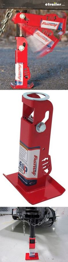 Flip-up trailer jack foot will eliminate the need for blocks or hard-to-position jack foot extensions on your trailer.
