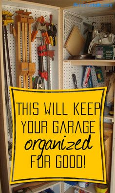 The {Easy, DIY Project} that'll keep your {Garage} organized for good!