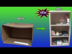 How to Recycle a Cardboard Box to Storage anythings - YouTube