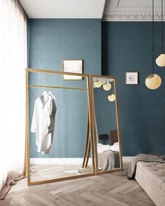 FRAMED, the cloth rack by Nordic Tales creates the perfect balance between functional storage and Nordic aesthetics, and frames your favorite outfits in a beautiful and functional way! Find out more. Nordic Interior, Interior And Exterior, Interior Design, Small Dressing Rooms, Diy Furniture, Furniture Design, Clothes Rail, Diy Clothes Rack, Clothes Storage