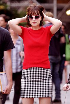 Dakota Johnson on the set of How To Be Single in NY - 28 May 2015