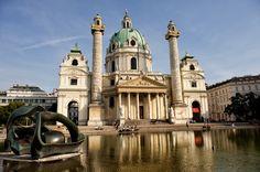 Karlskirche, Vienna (by M. Hodges)