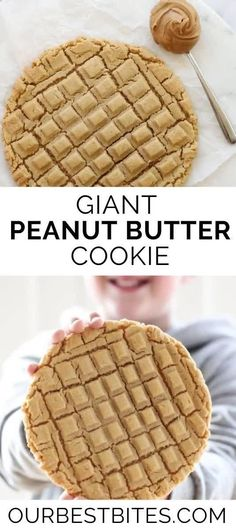 A single, GIANT peanut butter cookie! Easy to make treat that everyone will love from Our Bet Bites! #OurBestBites #Cookies #PeanutButterCookie #GiantCookie #GiantCookieRecipes #CookieRecipes Giant Chocolate, Chocolate Sugar Cookies, Peanut Butter Cookies, Christmas Sweets, Christmas Fun, Giant Cookies, Cookie Recipes, Dessert Recipes, Most Popular Desserts