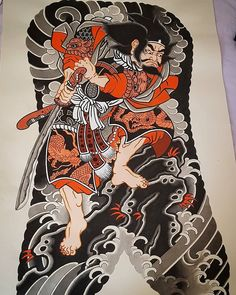 Collaboration between and Japanese Back Tattoo, Japanese Drawings, Japanese Tattoo Designs, Japanese Sleeve Tattoos, Japanese Prints, Japanese Art, Kabuto Samurai, Samurai Art, Tattoo Samurai