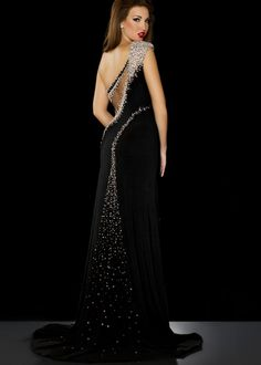 Beading Prom Dresses,High Slit Beading Prom Dresses,Black Beaded Prom Dresses,Sexy Slit Party Dresses,Sexy Prom Dresses,Sexy Slit Formal Gowns,Long sl