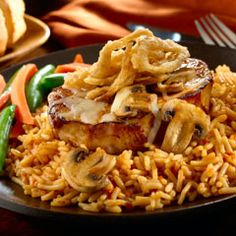 Cowboy Pork Chops With BBQ Rice. Quick & Easy Meal from Knorr! And they are SO GOOOOOOD!!!!!!!!!!