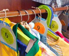 simplement mOments: Organizando a lo #handmade. #Etiquetas para #armario, organizando #ropa de #bebe por tallas