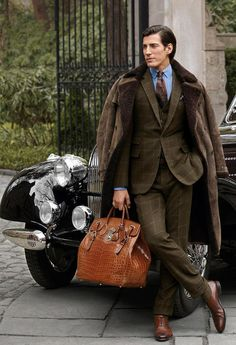 Classic Ralph Lauren. I WANT that bag. In fact, I will take two because of course I would need one in black also.