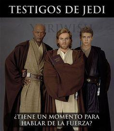 Testigos de Jedi. #humor #risa #graciosas #chistosas #divertidas