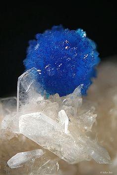 Cavansite / Wagholi Quarry, India mw/「カルシウム(calcium)」「バナジウム(Vanadium)」「珪素(Silicon)」を含む。カバンシ石「Ca-Van-Si」。ペンタゴン石とは同質異像。