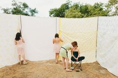 Create a space for a Bride to get ready - outdoors!