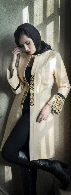 Aida Rahimi Fall 2014 - percika.com Iranian Women Fashion, Muslim Fashion, Modest Fashion, Hijab Fashion, Girl Fashion, Womens Fashion, Fashion Design, Collection Eid, Persian Girls