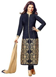 Navy Blue Ayesha Takia Straight Suit