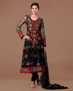 gorgeous #black #anarkali suit