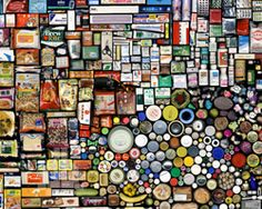 """My Things -- Book Keeping of 07 B."" Digital print of computer generated image/collage created from scanned photos. 120 x 216 cm. Tessalating Found Objects by Hong Hao at Pace Gallery Beijing. ✭~~hh/"