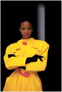 Jaune citron - Naomi Campbell – Vogue 1988