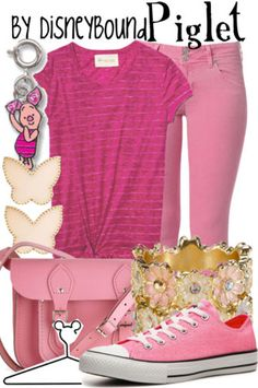 OMFG I am in love with this outfit like piglet I have been in love with her ever since I started watching Winnie the Pooh so yea I want this outfit