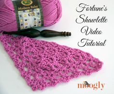 Learn how to crochet Fortune's Shawlette with a video tutorial by Moogly! Make yours with Lion Brand Modern Baby!