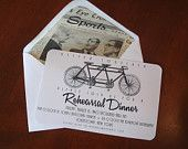 Vintage Bicycle Rehearsal Dinner Invitations. $47.00, via Etsy.