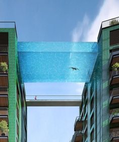 Sky Pool London - Arup Associates | An unbelievable new project in London links two buildings with a pool. #refinery29 http://www.refinery29.com/2015/08/92681/sky-pool-london