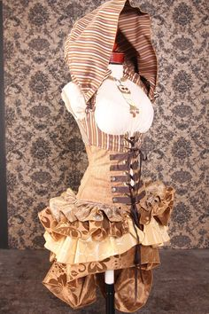 Rib Cage 29 to 31 Brown Steampunk Stripe by damselinthisdress. , via Etsy.