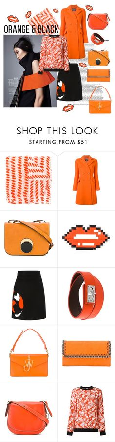 """Orange&Black"" by tessabit ❤ liked on Polyvore featuring Pleats Please by Issey Miyake, Boutique Moschino, Marni, Anya Hindmarch, MSGM, Givenchy, J.W. Anderson, STELLA McCARTNEY, Coach 1941 and Kenzo"