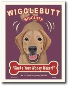golden retriever art... Had to re-pin for the sole fact that jerseys nickname is 'wigglebutt'