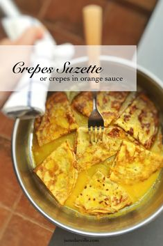 Homemade thin crepes in a sugary orange and Grand Marnier sauce. this crepes suzette recipe is a must try! Crepe Recipes, New Recipes, Dinner Recipes, Cooking Recipes, Favorite Recipes, Dinner Ideas, Brunch Recipes, Yummy Recipes, Recipies
