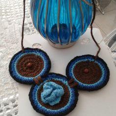 #colar #fashion #bijouterias #bijoux #artesanato #crochê