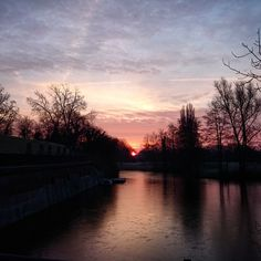 """Sunrise this morning ;) #beautiful #sunrise #Sony #Xperia #sky #sun #water #utrecht #Netherlands"""