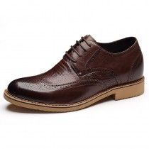 8cb1d1efcdfc97 Coffee premium business lift shoes 7cm   2.75inch height increasing formal  derby shoe
