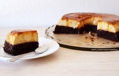 Κέικ σοκολάτας με κρέμα καραμελέ (VIDEO) - cretangastronomy.gr Cheesecake, Sweets, Desserts, Food, Tailgate Desserts, Recipes, Deserts, Gummi Candy, Cheesecakes