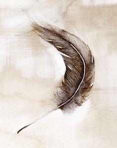feather small art print. $15.00, via Etsy.