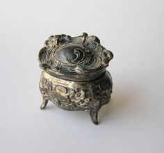 Art Nouveau Jewelry Casket Ring Box Ornate Floral by icondesign, $75.99