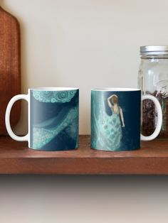 'The Water Nymph' Mug by Cherie Roe Dirksen Water Nymphs, Framed Prints, Canvas Prints, Great Coffee, Iphone Wallet, Zip Hoodie, Cotton Tote Bags, Poodle, Floor Pillows