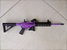 """Check this one out for the ladies...or for, you know...the """"secure man"""". AR15 in Bright Purple. www.madcustomcoating.com"""