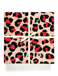 Red Leopard Gift Wrap #giftwrapping