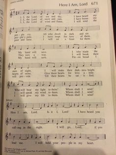 Piano Music, Sheet Music, Lord Music, Jesus Is Lord, God, Here I Am Lord, Funeral Songs, Mouth Open, Christian Songs