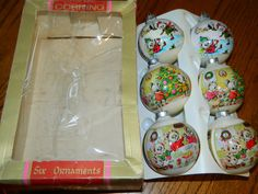 Collectible Vintage Christmas Mice Ornaments6 White by ZiggyzAttic