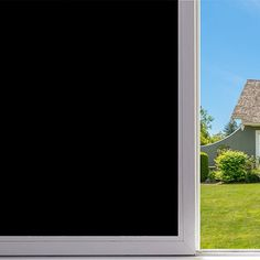 Velimax Self Adhesive Privacy Tint Black Stickers Decorative Blackout Window Film (45cm by 200cm)