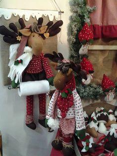 Christmas Moose, Christmas Clay, Christmas Sewing, Country Christmas, Handmade Christmas, Christmas Wreaths, Christmas Decorations, Holiday Decor, Moose Crafts
