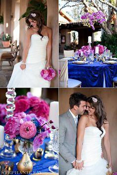 Elegant Wedding Ideas, Pink Fuschia, Pink Orchid Center Pieces - Scottsdale, Orange County Wedding Photographer