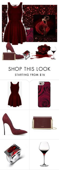 """""""Bloody mary"""" by mahima-dahiya ❤ liked on Polyvore featuring Casetify, Casadei, Ted Baker, Andante and Riedel"""
