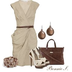 """""""taupe & chocolate"""" by bonnaroosky on Polyvore"""